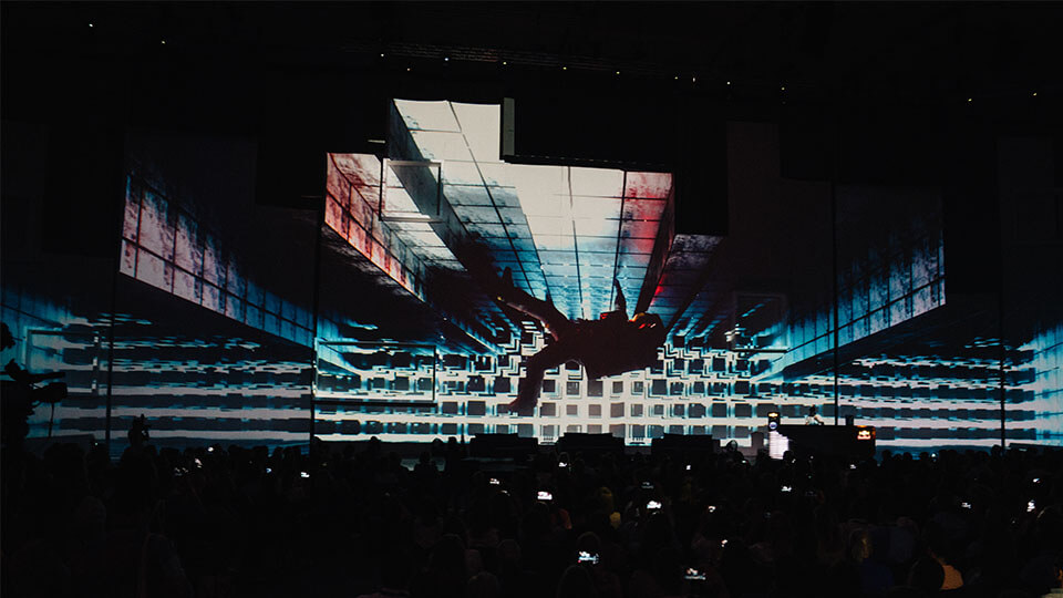 fifteen seconds festival opener opening titles projection mapping animation motion design graz messe fair event