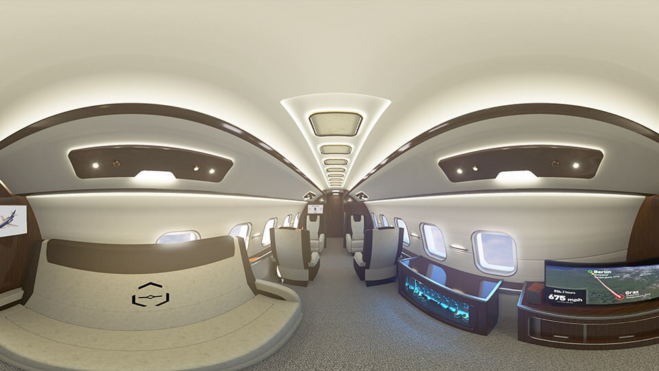 360 vr virtual reality airplane plane jet experience animation motion 3d