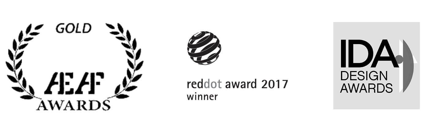gold aeaf awards red dot award winner 2017 communications IDA design awards