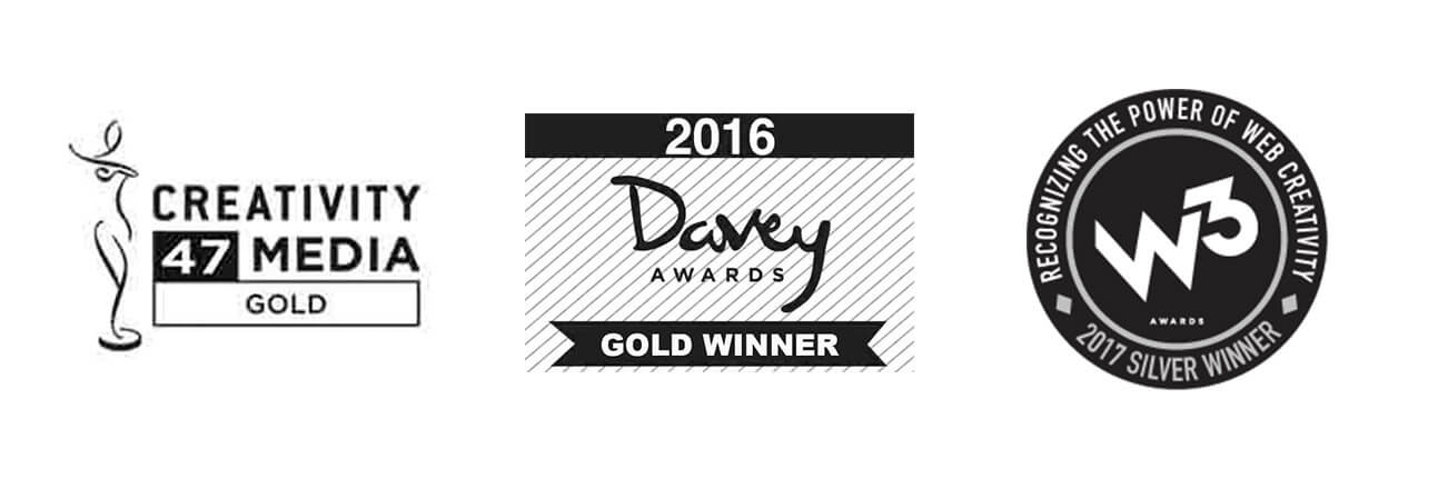 mindconsole creativity media gold davey award 2016 gold w3 2017 silver winner